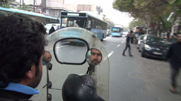 Riding motorbike in Tehran, Iran Footage