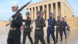 Ataturk Mausoleum in Ankara, marching soldiers Footage