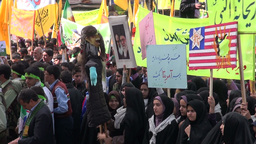 Iran, anti US demonstrations Footage