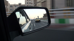 Driving Across Tehran Highway stock footage