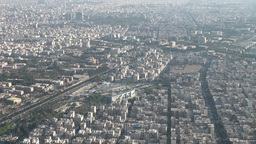 Skyline Tehran stock footage