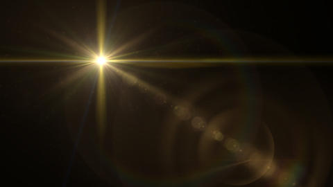 Glow Star cross yellow lens flare Animation