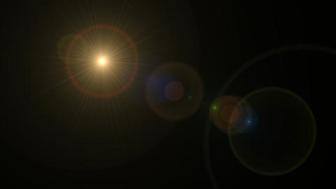 Glow Sun cross lens flare Animation