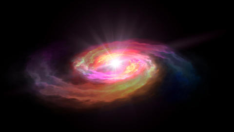 space red galaxy render Animation