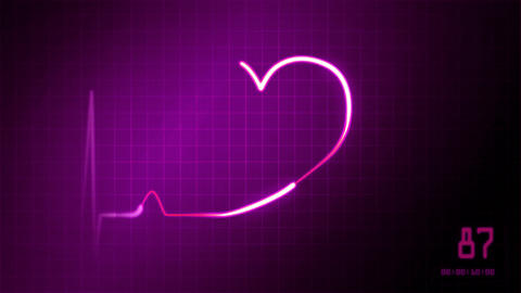 heart on an EKG wedding love pink Animation