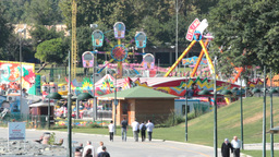 Amusement Park stock footage