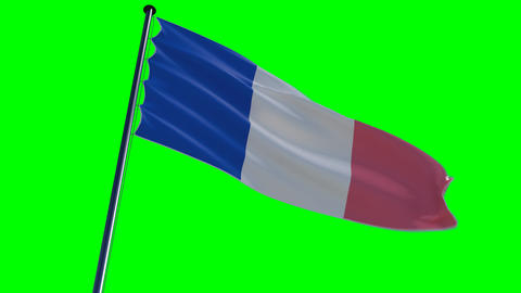 France Flag, HQ Animated On An Epic Background, Gr stock footage
