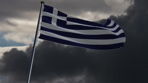 Greece Flag, HQ animated on an epic background Animation