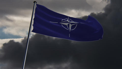 NATO Flag, HQ animated Animation