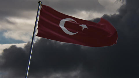 Turkey Flag, HQ animated Animation