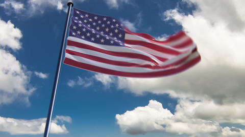 USA Flag, HQ animated Animation