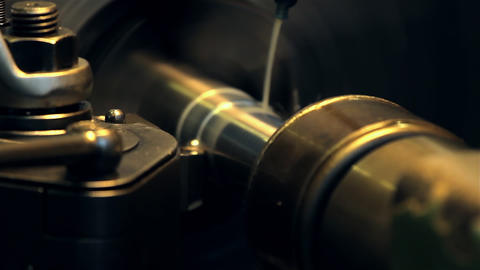Lathe, Turning Machine stock footage