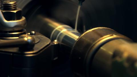 Lathe, turning machine Footage