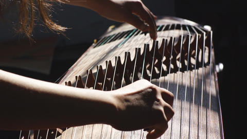 Guzheng Playing 02 Footage