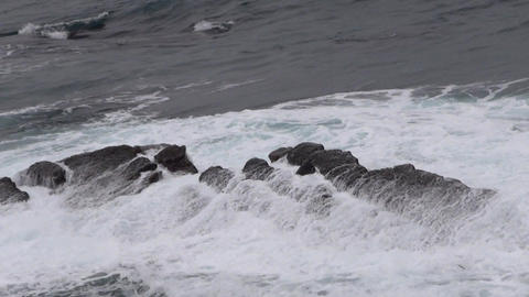 sea waves against rocks Footage