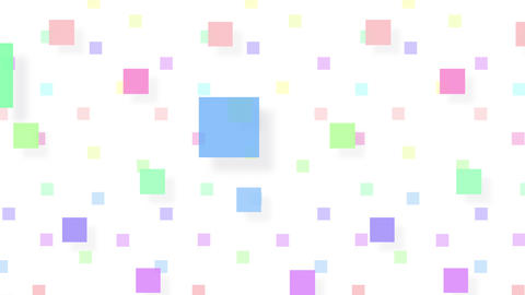 Simple background Square S color 4k CG動画