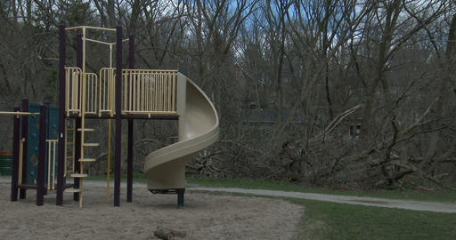 Children's playground in a park Footage