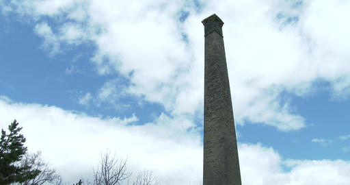 Old Factory Smokestack In A Park stock footage