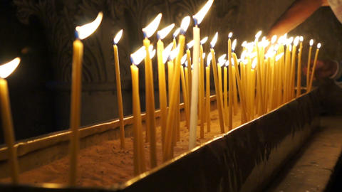 Candles in Holy Sepulchre Live Action