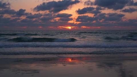 Sunset Over Mediterranean Sea Footage