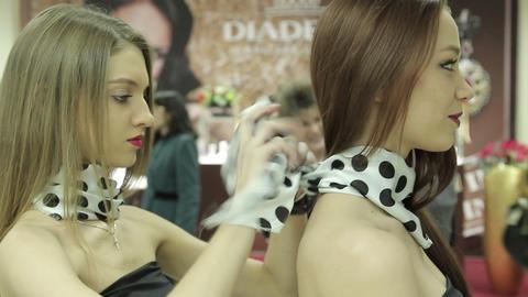 Models talk Footage