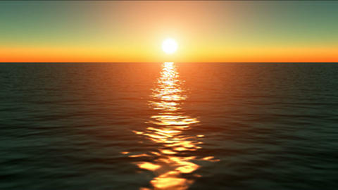 Golden Sunset Dream Water HD Stock Video Footage