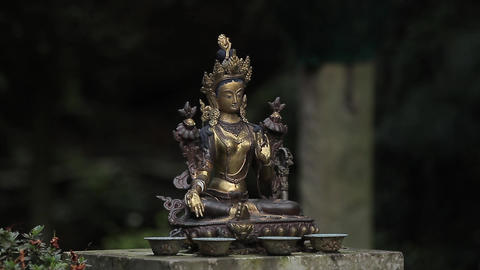 Statue Of An Asian Goddess Filmmaterial