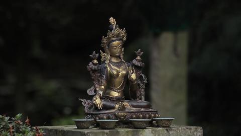 Statue Of An Asian Goddess Footage