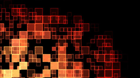 Abstract Squares Background Animation - Loop Red Animation