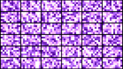 Wall of Pixel Lights - Loop Purple Animation
