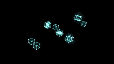 Blue Cloning Cubes Animation