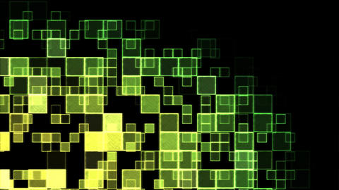 Abstract Squares Background Animation - Loop Yello Animation