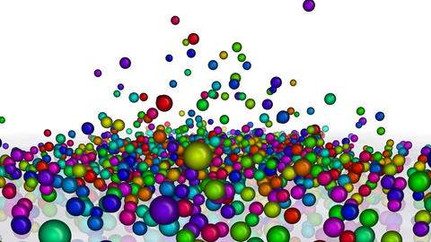 Colorful Falling Balls Animation
