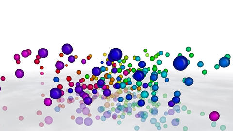 Colorful Rainbow Bouncing Balls stock footage