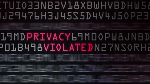 Computer Security Buzzwords stock footage