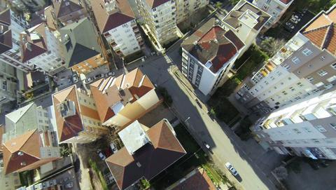 Top down city blocks Footage
