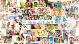 Photo Wall Gallery - Apple Motion and Final Cut Pro X Template Apple Motionテンプレート
