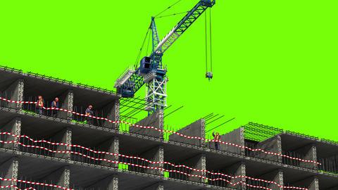 4K Building area Animation