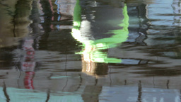 Reflection Of The Couple In The Water stock footage