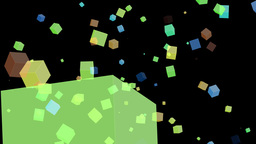 Box particle colorful Animation