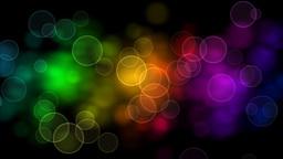 Rainbow Bubbles Animation CG動画素材