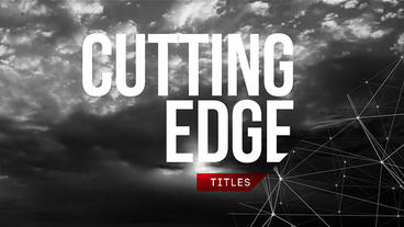 Cutting Edge Titles After Effects Template