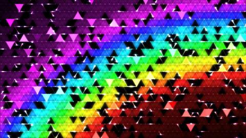 Colorful Triangle Background Mosaic Animation - Ra Animation