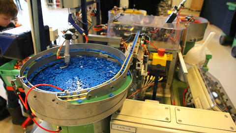 Manufacturing of Lego bricks Footage