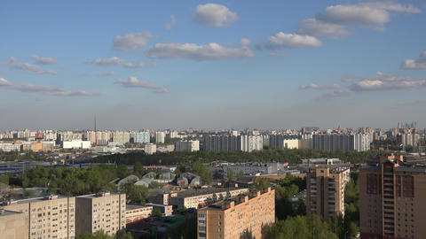 4k panorama of Moscow Footage