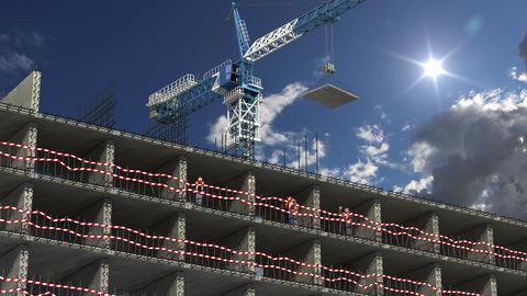 4K Building area concept Animation