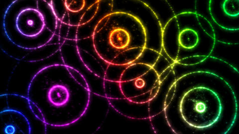 Abstract Colorful Circles Animation - Loop Animation