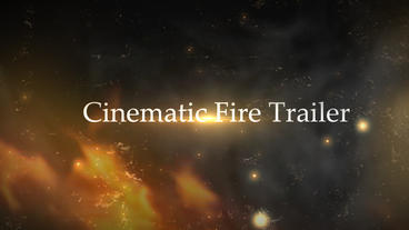 Cinematic Fire Trailer After Effects Template