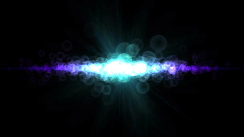 Abstract Particle Light Animation - Loop Blue Purp Animation