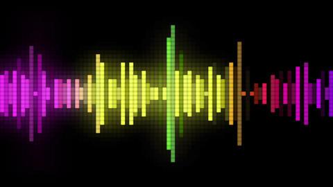 audio spectrum pixel style Animation